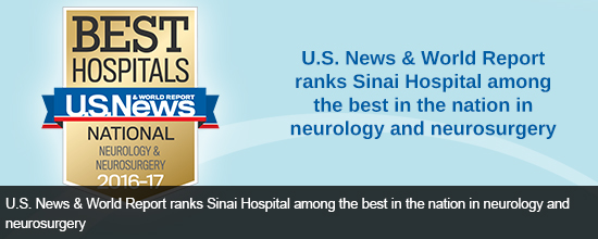 U.S. News & World Report Ranks Sinai Hospital's Neurology/Neurosurgery Dept. Among the Best in the Nation